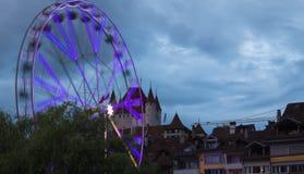 Bigwheel stad av Thun switzerland Royaltyfri Foto