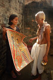 bihar india madhubanimålning Royaltyfria Bilder