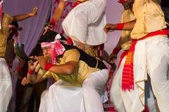Bihu, культурный танец Асома стоковое фото