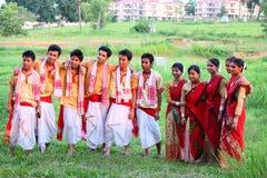 Bihu, Assamese tradicional fetival foto de archivo libre de regalías