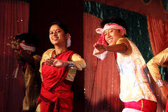 Bihu, traditional Assamese dance Royalty Free Stock Photo
