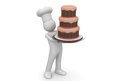 Biiiiiig cake Stock Photo