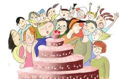 biirthday cake Royaltyfri Foto