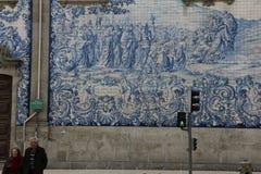 Bij één of andere hoek, stad van Porto Royalty-vrije Stock Fotografie