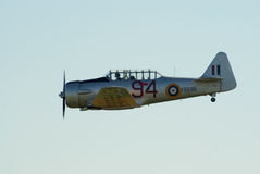 Bij-16 Harward II tijdens de vlucht Stock Foto
