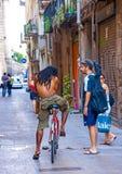 Bij Barceloneta-gebied Stock Afbeeldingen