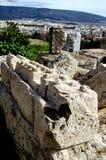 Bij de Akropolis in Athene Stock Foto's