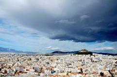 Bij de Akropolis in Athene stock fotografie