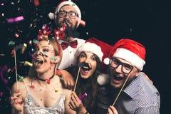 Bij de bal van het Nieuwjaar` s kostuum royalty-vrije stock fotografie