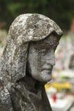 Bij de begraafplaats Stock Foto's