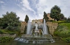 Bij de Belangrijkste Fontein bij Villa d'Este Royalty-vrije Stock Foto's