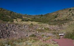 Bij de Bodem van Capulin Volcano Crater royalty-vrije stock afbeeldingen
