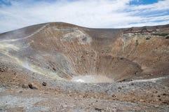 Bij de bovenkant van Vulkaan Stock Fotografie