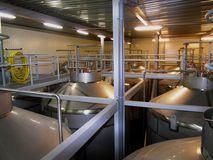 Bij de brouwerij Stock Afbeelding