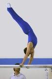 Bij de gymnastiek stock foto