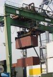 Bij de Haven - bewegende lading royalty-vrije stock foto