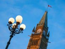 Bij de het Parlement Heuvel in Ottawa Stock Afbeelding