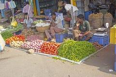 Bij de Indische markt Royalty-vrije Stock Fotografie