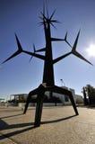Bij de Ingang van Parque das Nações, Lissabon Stock Foto