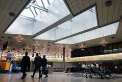 Bij de luchthaven Royalty-vrije Stock Afbeelding