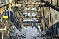 Bij de luchthaven. De route van Acces op terminals Stock Foto