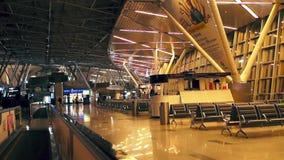 Bij de luchthaven, timelaps stock videobeelden