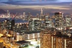 bij de mening van het lamtin van Hongkong 2017 Stock Fotografie