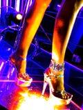 Bij de nachtclub Stock Afbeelding