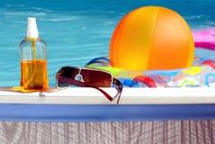 Bij de pool. Stock Afbeelding