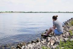 Bij de rivier Royalty-vrije Stock Afbeelding