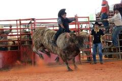 Bij de rodeo Royalty-vrije Stock Foto