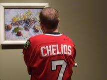 Bij de schilderijen van Vincent van Gogh Stock Foto's