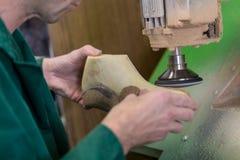 Bij de schoenmaker Stock Foto