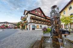 Bij de straten van Oberammergau Royalty-vrije Stock Foto