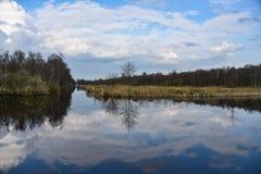 Bij de Weerribben di Landschap fotografie stock libere da diritti