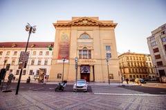 Bij dijkna PÅ™ÃkopÄ› in de oude stad van Praag, Tsjechische Republiek Royalty-vrije Stock Foto