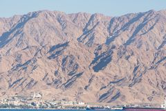 Bij Dolfijnertsader in Eilat stock foto's