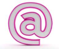 Bij - e-mail - @ symbool Stock Afbeeldingen