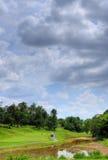 Bij een golfcursus Royalty-vrije Stock Fotografie