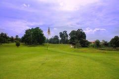 Bij een golfcursus Stock Foto