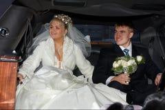 Bij een limousine Royalty-vrije Stock Foto