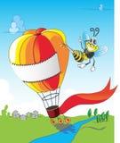 Bij en ballon Royalty-vrije Stock Afbeelding