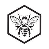 Bij en honing vector illustratie