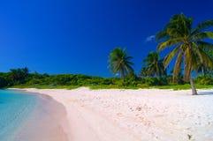 Bij het Caraïbische strand royalty-vrije stock fotografie