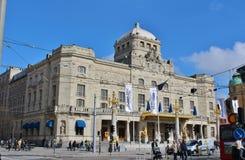 Bij het Dramatische Theater in Stockholm Stock Foto