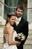 Bij het huwelijk Stock Afbeeldingen