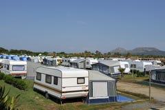Bij het kamperen Stock Foto's