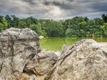 Bij het meer Stock Foto