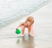 bij het strand Stock Afbeelding
