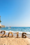 2016 bij het strand Royalty-vrije Stock Foto's